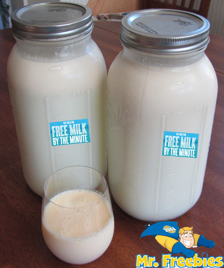 free milk by the minute